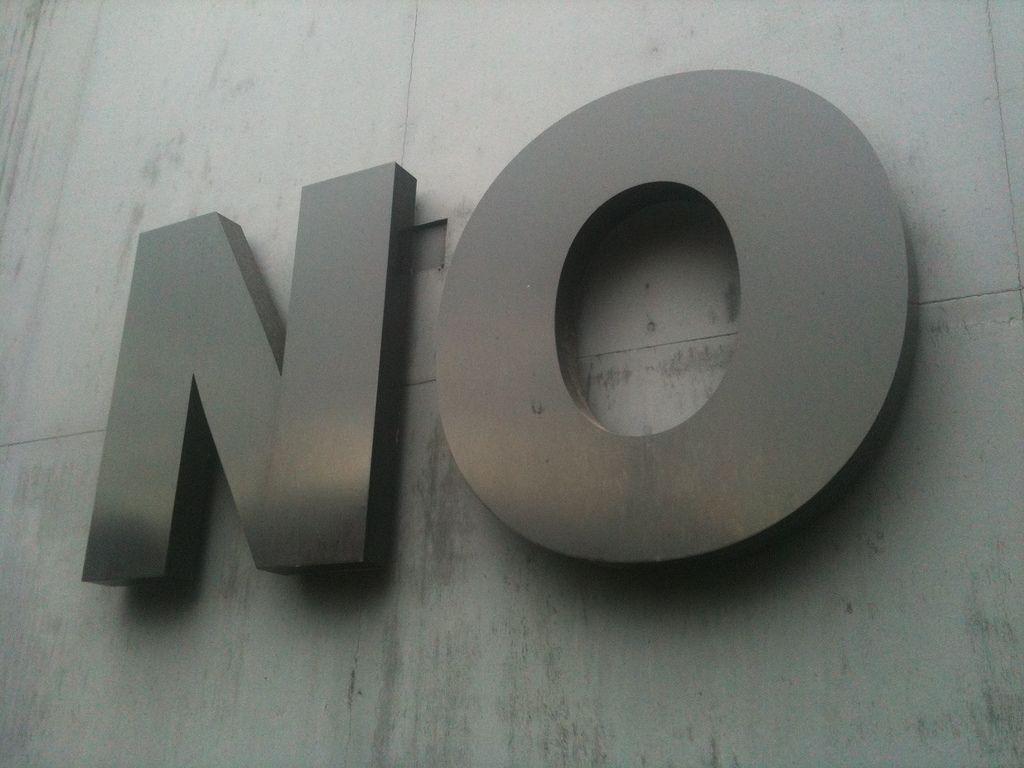 Saber decir que NO