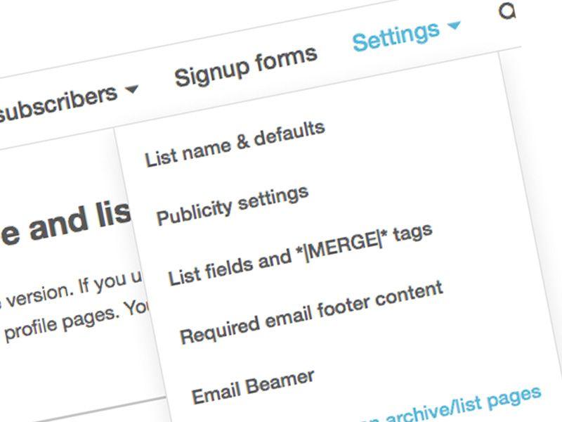 Analytics y MailChimp