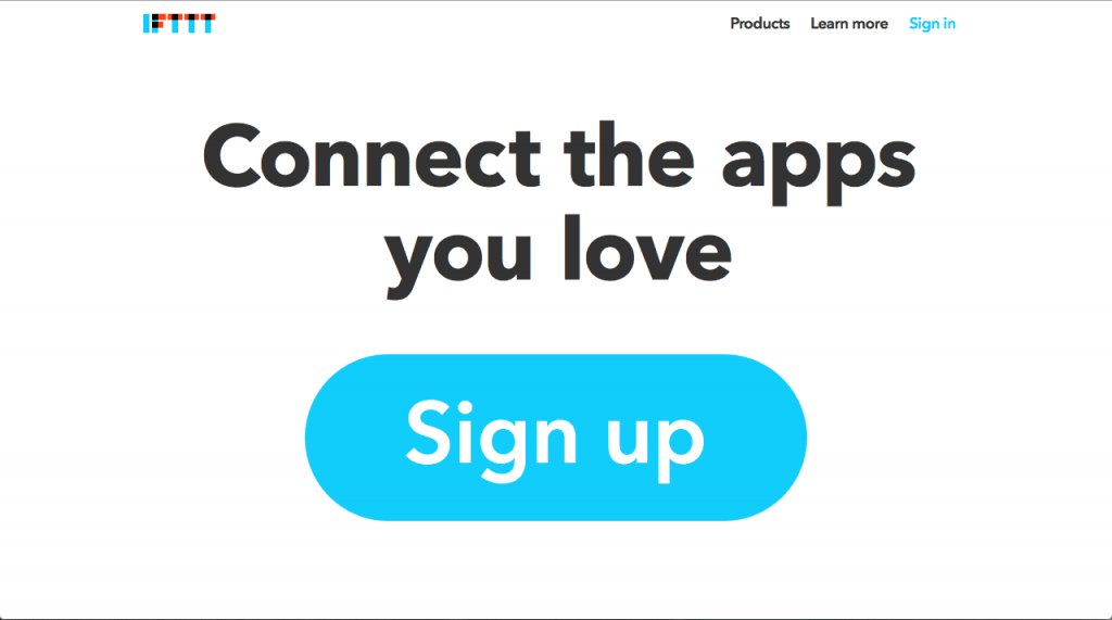 IFTTT Home Page 2015