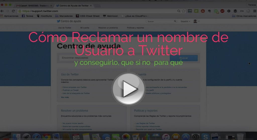Reclamar Nombre Usuario a Twitter