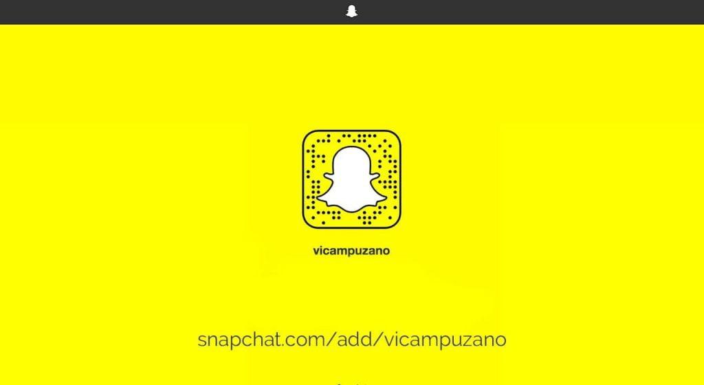 Snapchat Vicampuzano