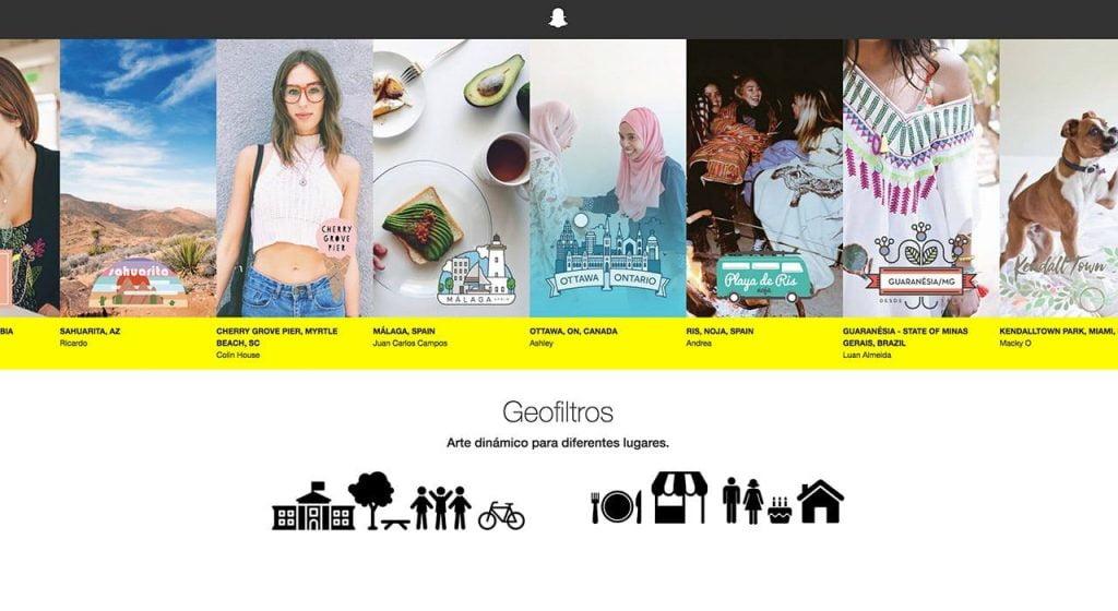 Geofiltros Snapchat