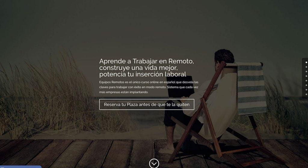 Landing Page Equipos Remotos