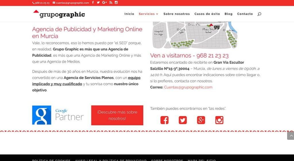 Landing Page Grupo Graphic