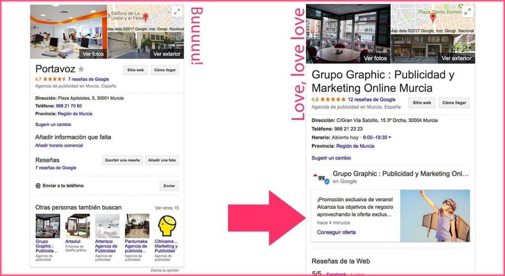 Ejemplo Publicaciones Google My Business