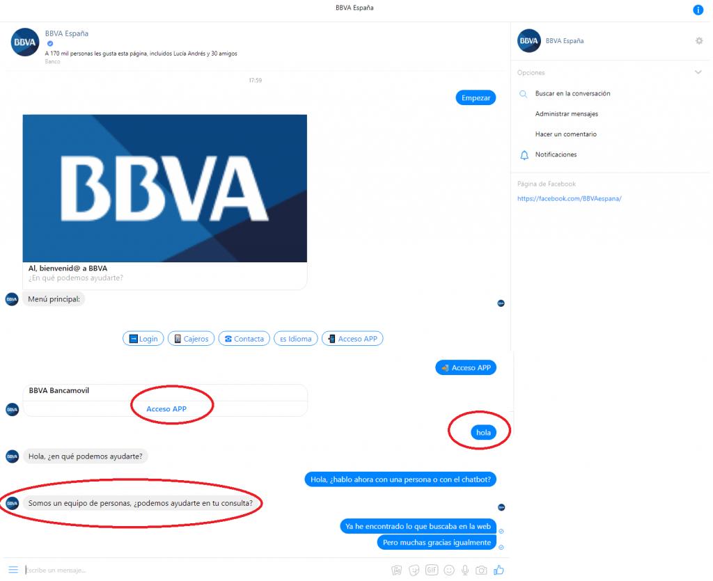 Conversación de ejemplo 2 con bot