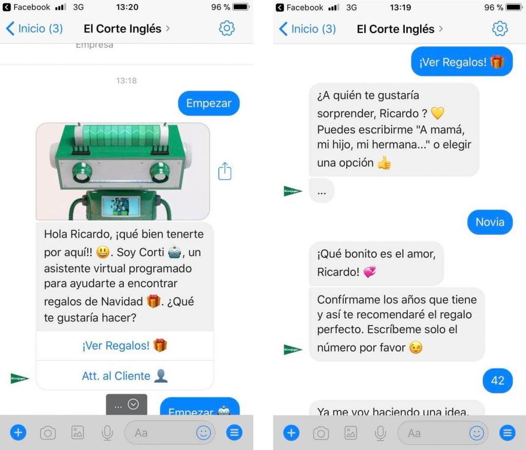 Conversación de ejemplo con chatbot 3