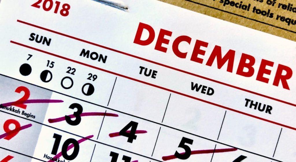 calendario tecnica dont break the chain